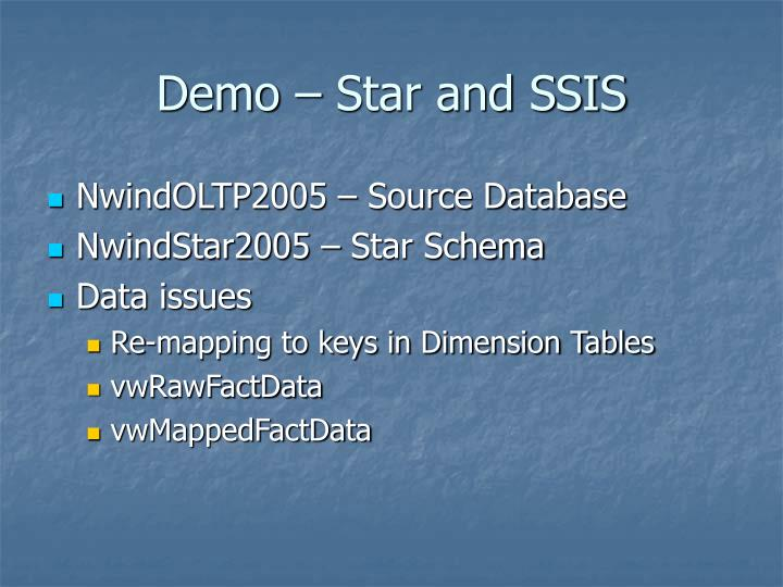 Demo – Star and SSIS