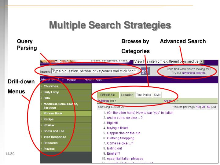 Multiple Search Strategies