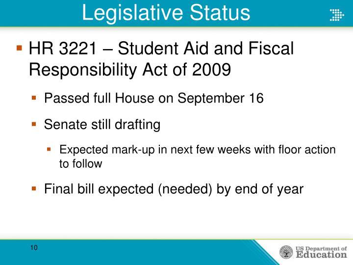 Legislative Status