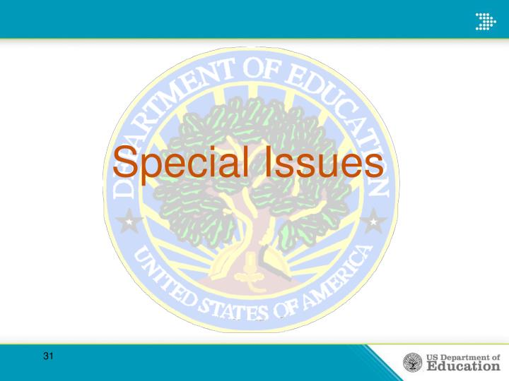 Special Issues