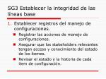 sg3 establecer la integridad de las l neas base