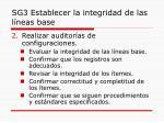 sg3 establecer la integridad de las l neas base1