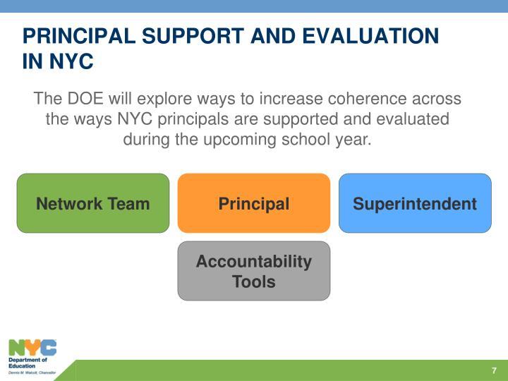PRINCIPAL SUPPORT AND EVALUATION IN NYC