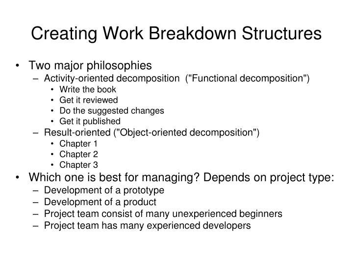 Creating Work Breakdown Structures