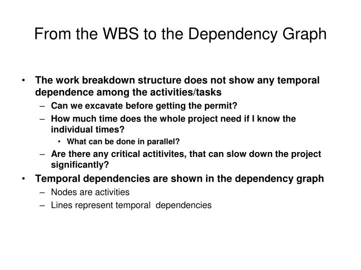 From the WBS to the Dependency Graph
