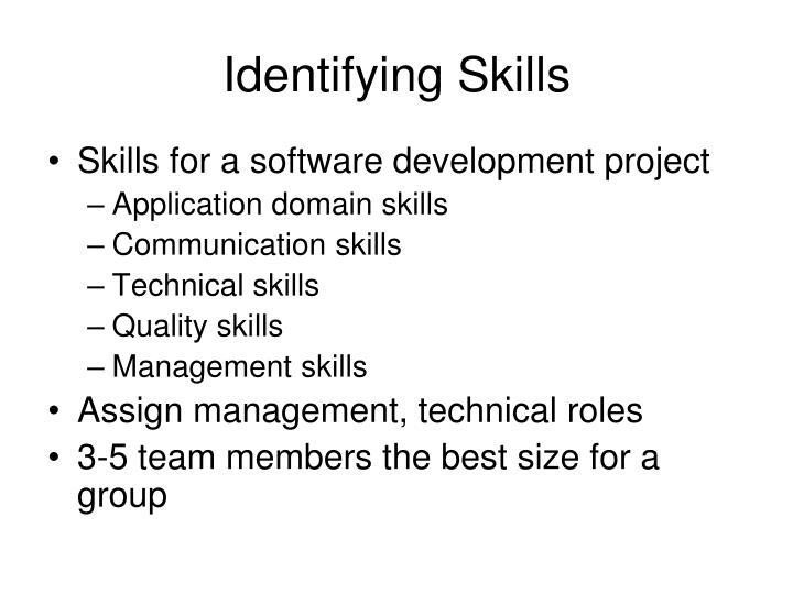 Identifying Skills