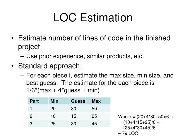 LOC Estimation