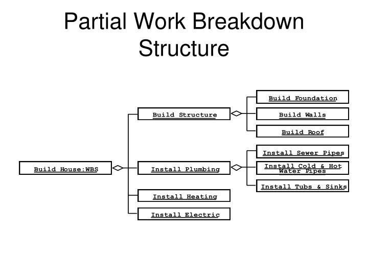 Partial Work Breakdown Structure