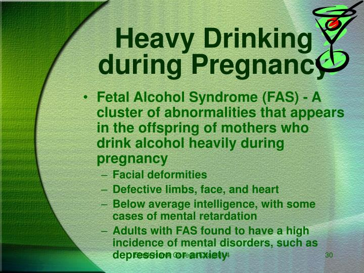 Fetal Alcohol Syndrome (FAS) - A cluster of abnormalities that appears in the offspring of mothers who drink alcohol heavily during pregnancy