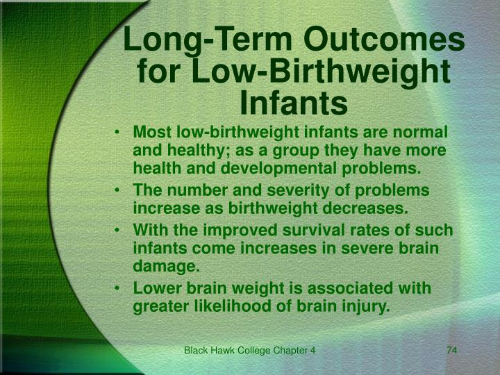 Long-Term Outcomes for Low-Birthweight Infants