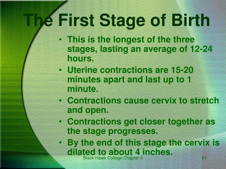The First Stage of Birth