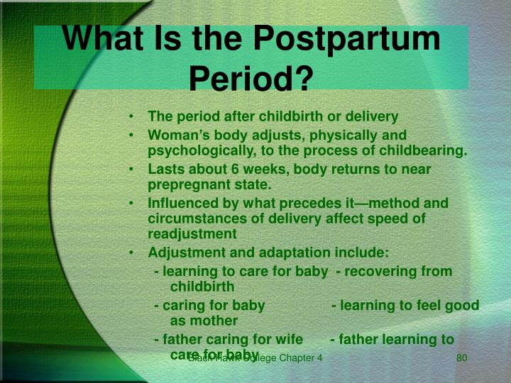 What Is the Postpartum Period?