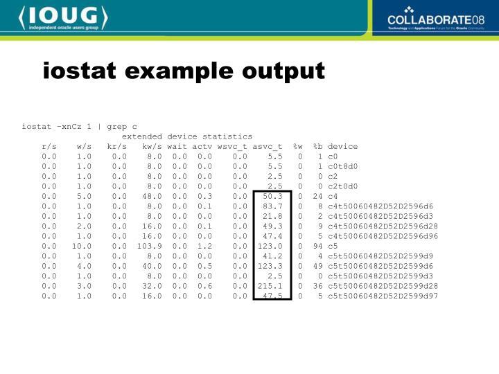 iostat example output