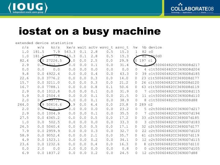 iostat on a busy machine