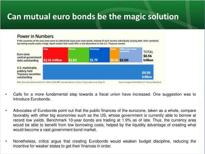 Can mutual euro bonds be the magic solution