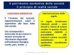 il patrimonio normativo della societ il principio di realt sociale