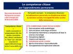 le competenze chiave per l apprendimento permanente