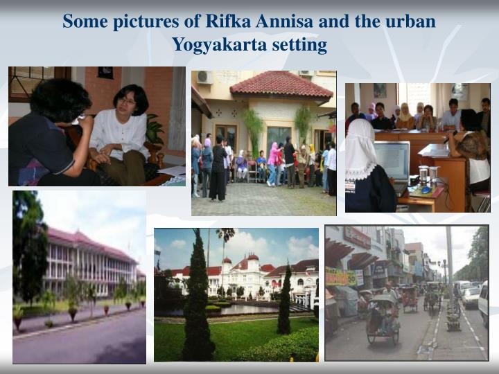 Some pictures of Rifka Annisa and the urban Yogyakarta setting