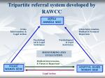 tripartite referral system developed by rawcc