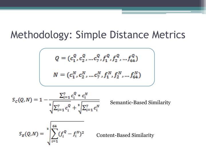 Methodology: Simple Distance Metrics