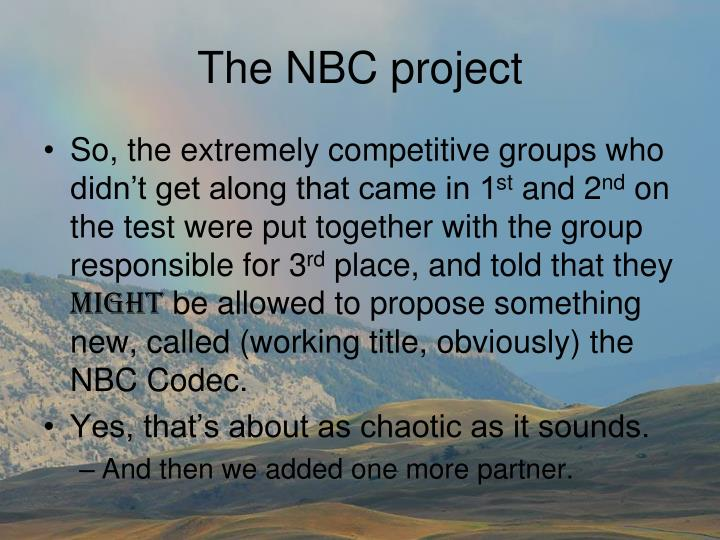 The NBC project