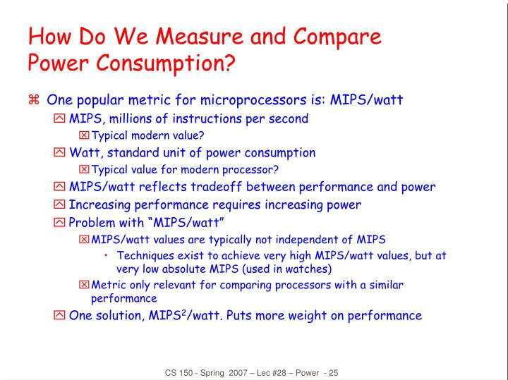 How Do We Measure and Compare Power Consumption?
