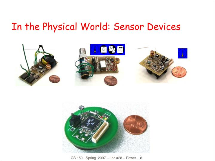 In the Physical World: Sensor Devices