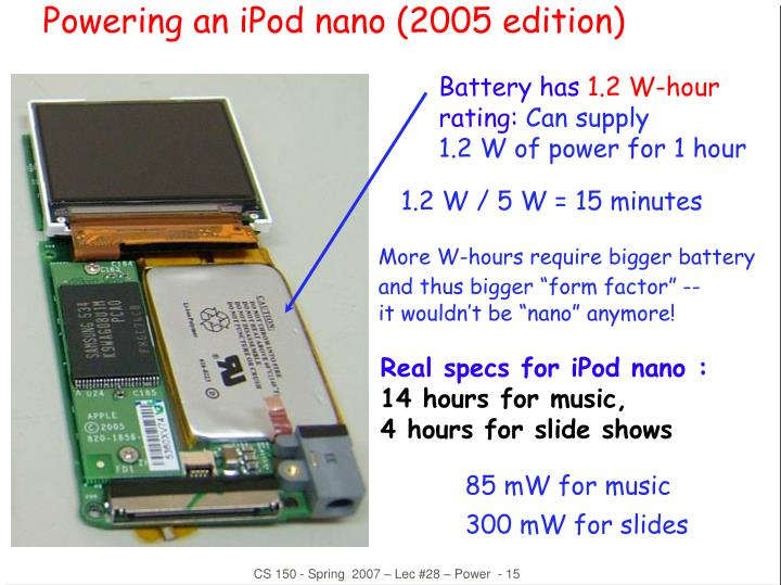 Real specs for iPod nano :