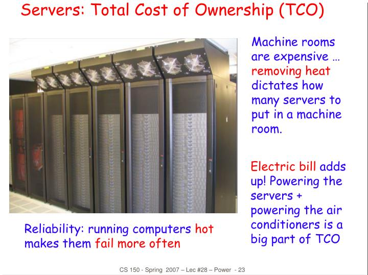 Servers: Total Cost of Ownership (TCO)