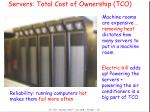 servers total cost of ownership tco