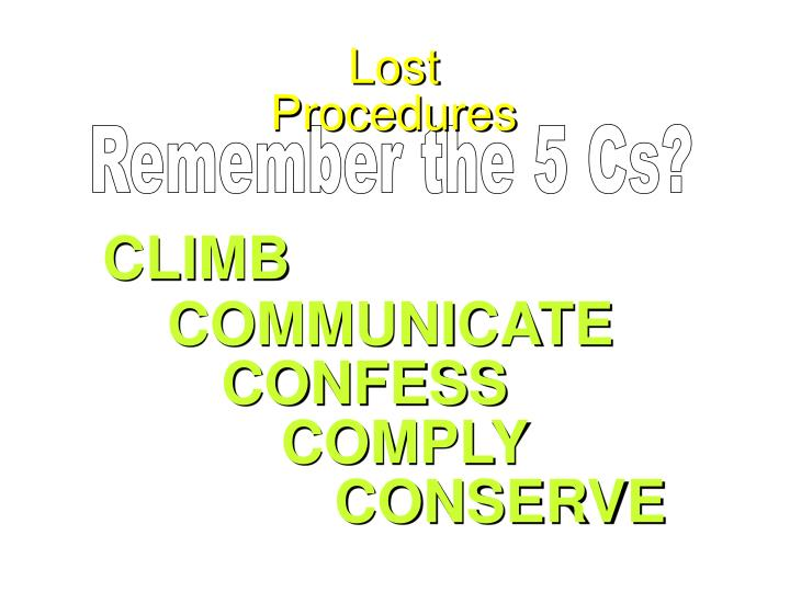 Lost Procedures