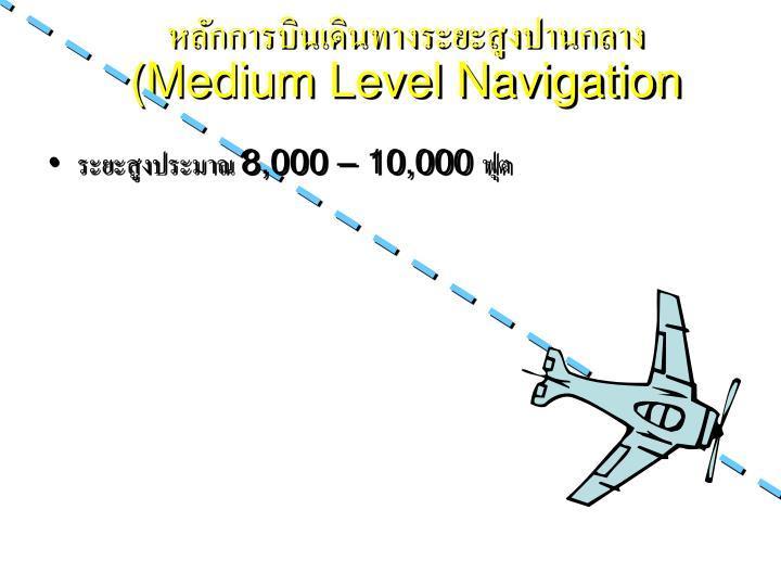 หลักการบินเดินทางระยะสูงปานกลาง