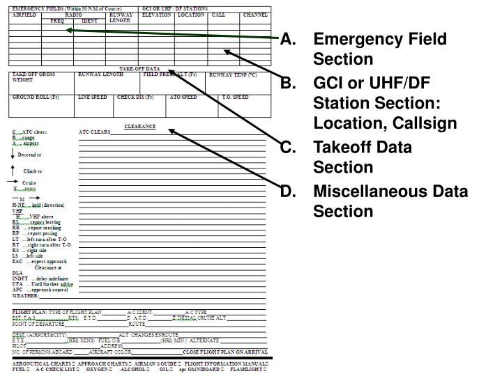Emergency Field Section