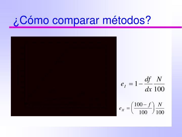 ¿Cómo comparar métodos?