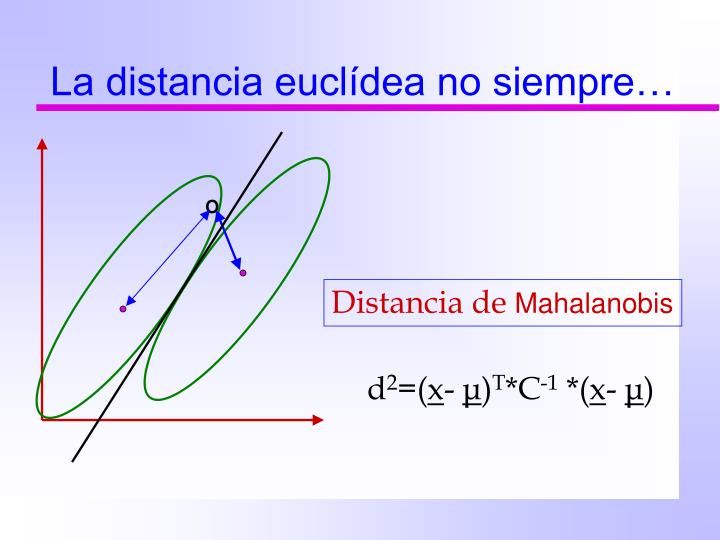 La distancia euclídea no siempre…