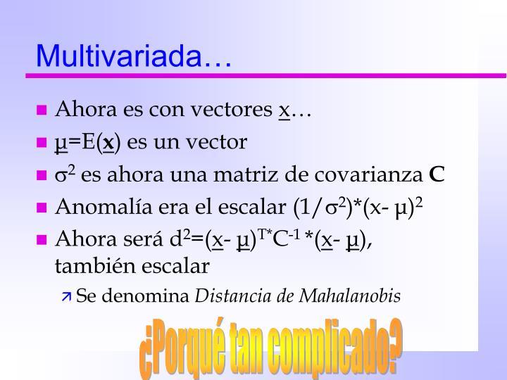 Multivariada…