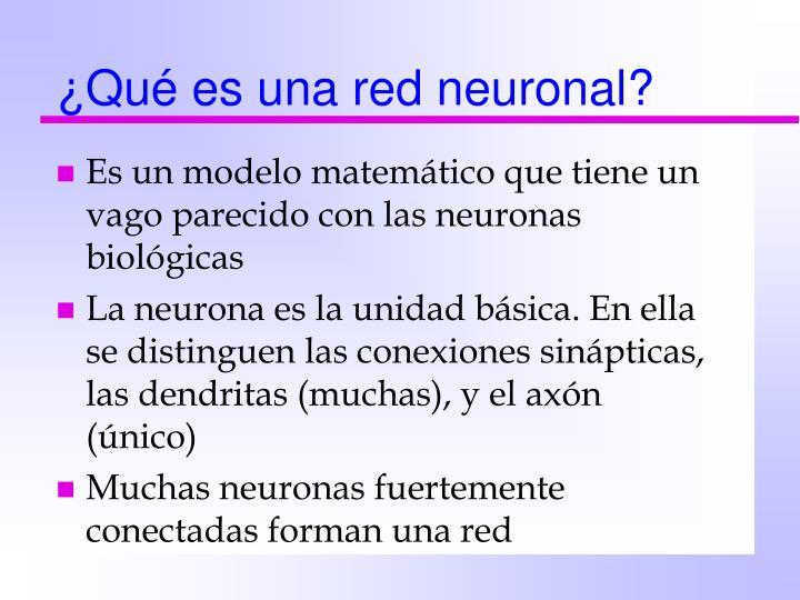 ¿Qué es una red neuronal?