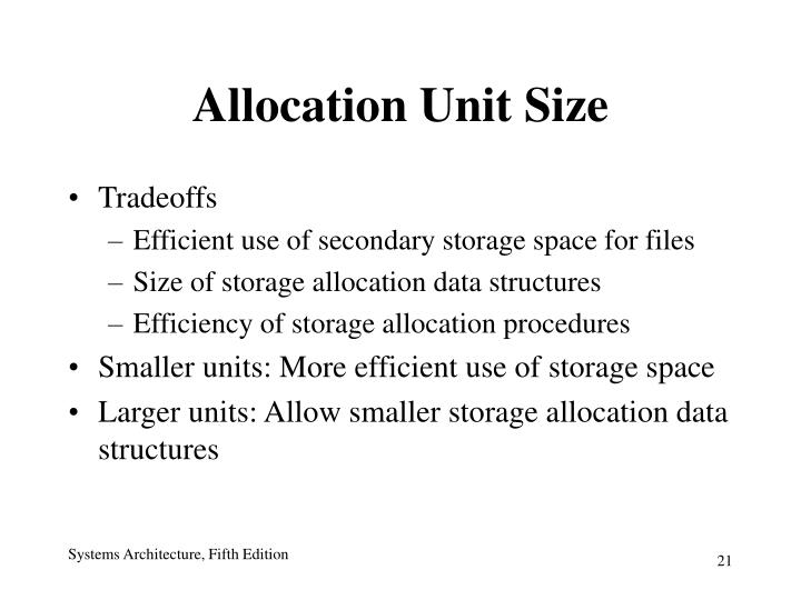 Allocation Unit Size