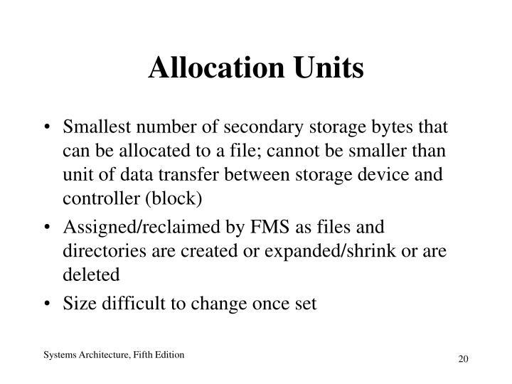 Allocation Units