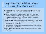 requirements elicitation process 4 refining use cases cont1
