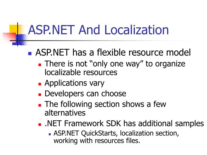 ASP.NET And Localization