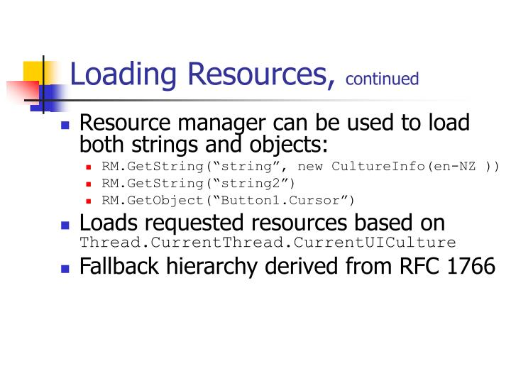 Loading Resources,