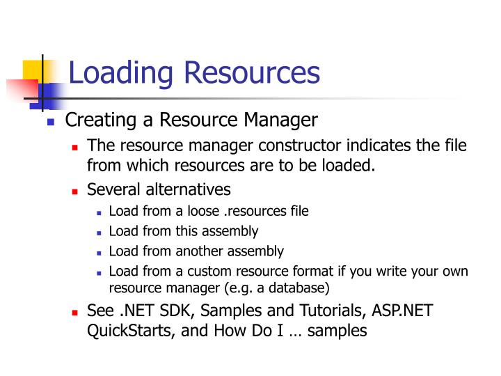 Loading Resources
