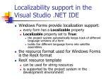 localizability support in the visual studio net ide