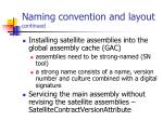 naming convention and layout continued