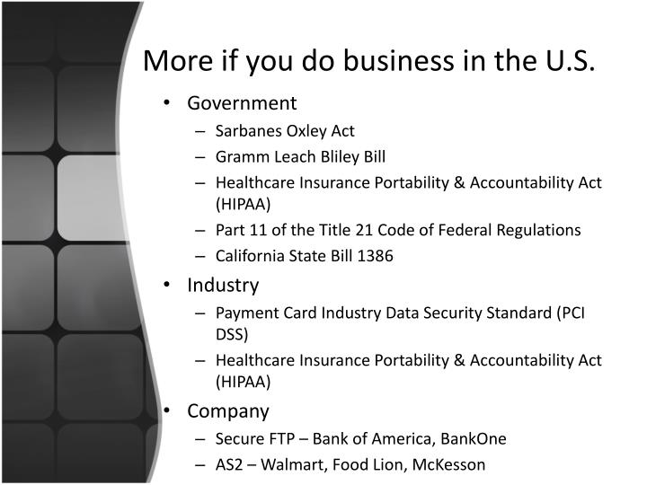 More if you do business in the U.S.
