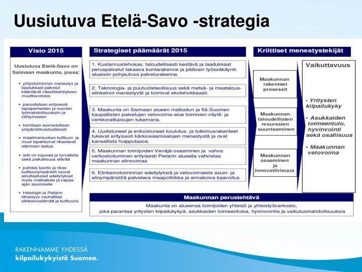 Uusiutuva Etelä-Savo -strategia