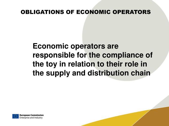 OBLIGATIONS OF ECONOMIC OPERATORS