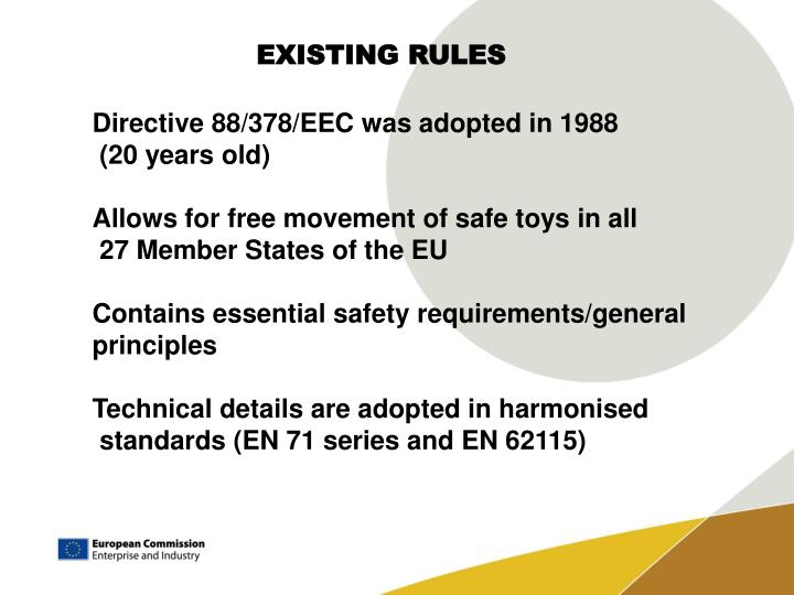 EXISTING RULES