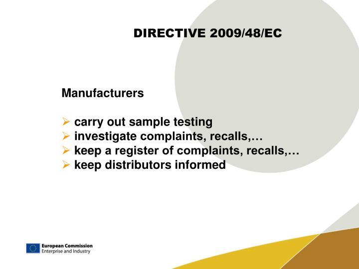 DIRECTIVE 2009/48/EC
